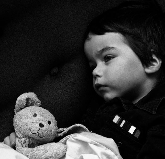 Poor little sick boy